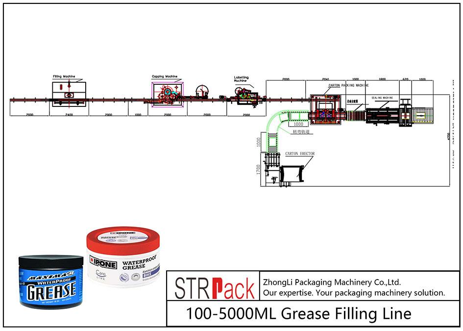 Automatska linija za punjenje masti 100ML-5L