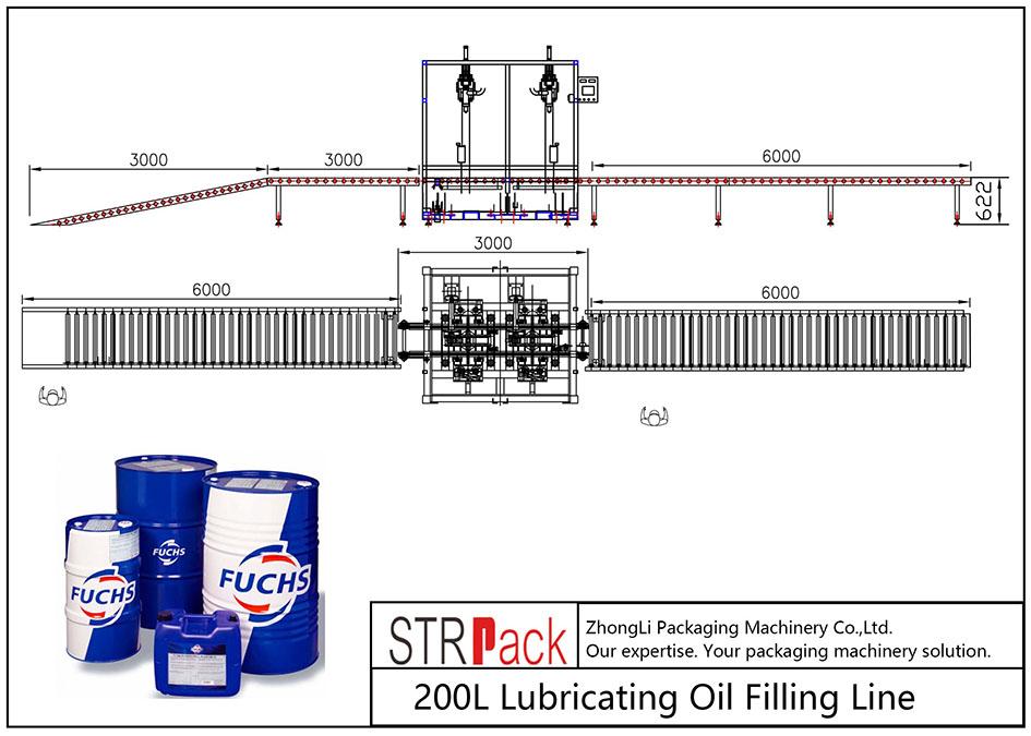 Automatska linija za punjenje ulja od 200 L