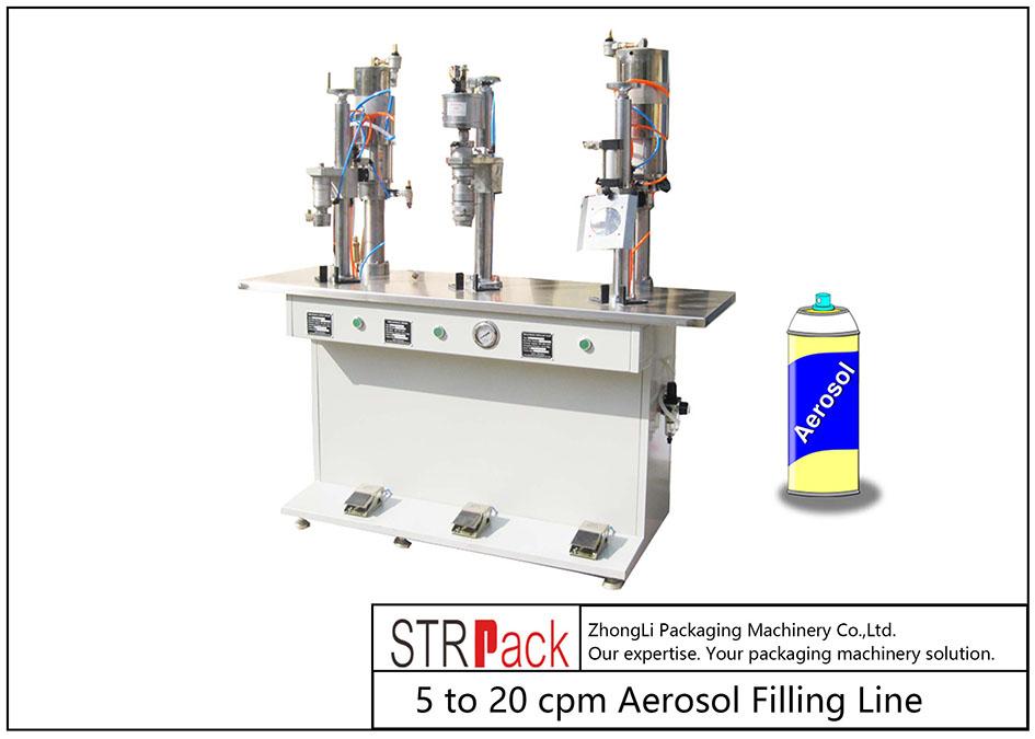 Polu-auto mašina za punjenje aerosola