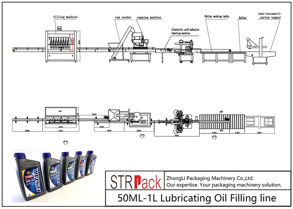 Automatska linija za punjenje ulja 50ML-1L