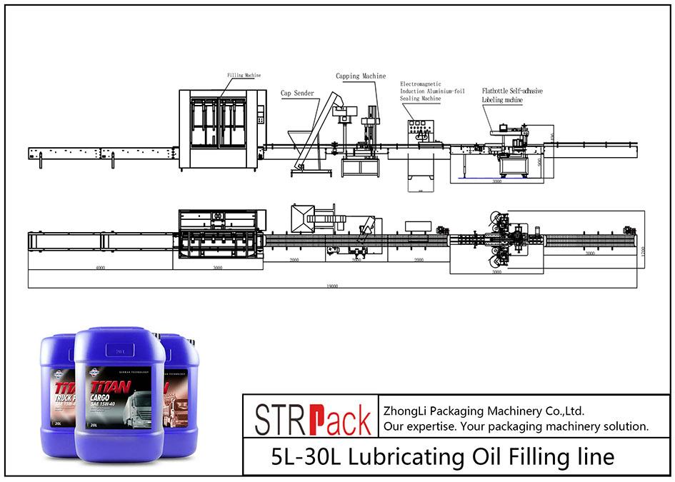 Automatska linija za punjenje ulja za podmazivanje 5L-30L
