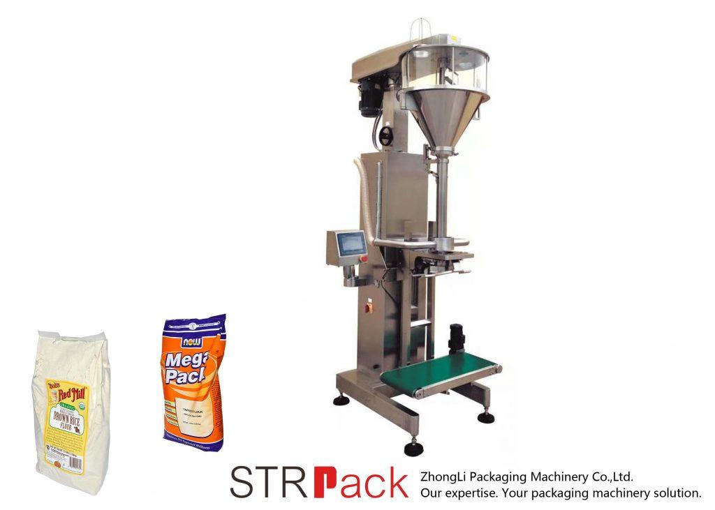 Mašina za punjenje praška s puževima s mrežom za vaganje
