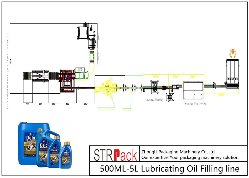 Automatska linija za punjenje ulja 500ML-5L