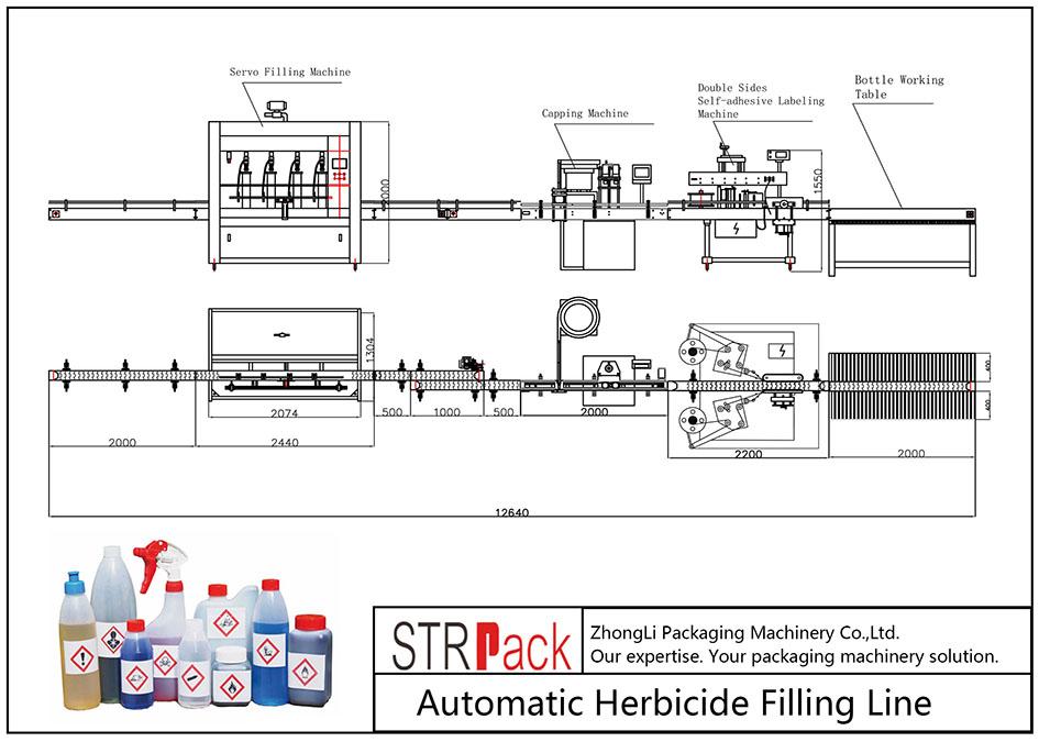 Automatska linija za punjenje herbicidima
