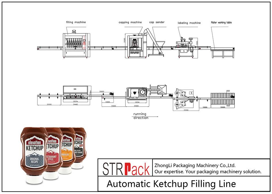 Automatska linija za punjenje kečapa