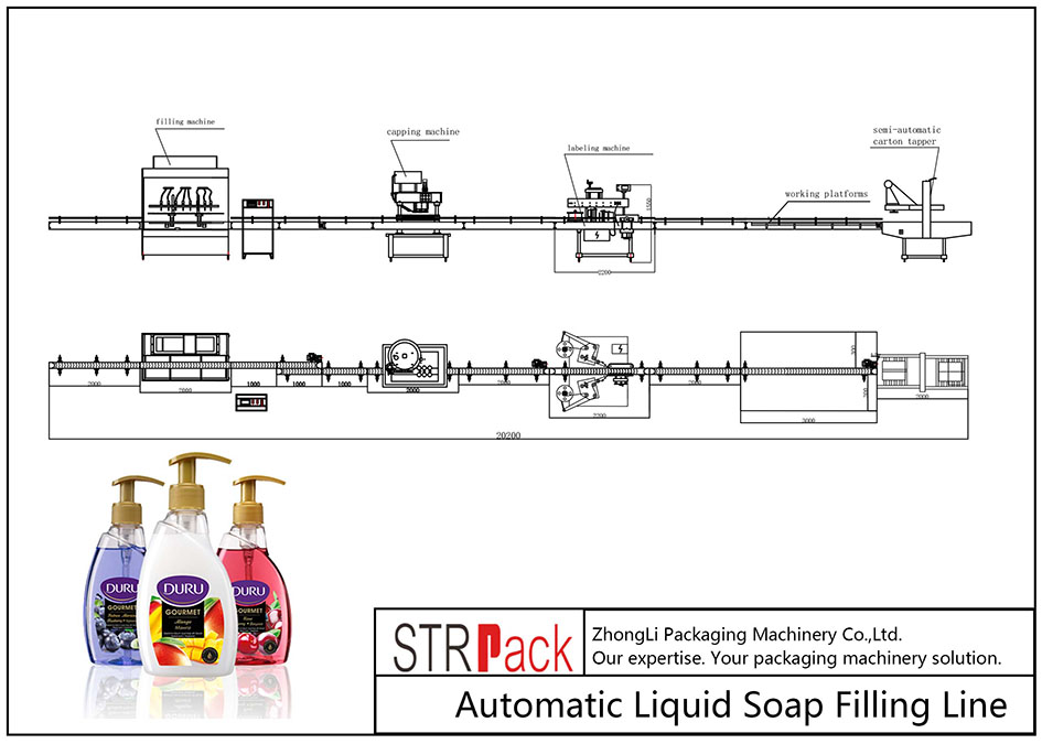 Automatska linija za punjenje tekućeg sapuna