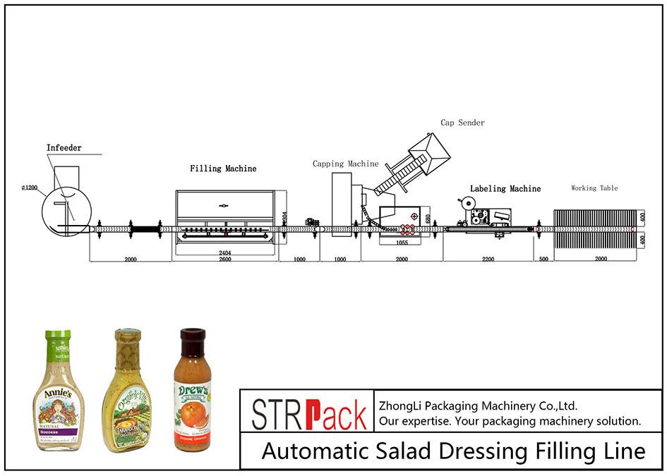 Automatska linija za punjenje salata
