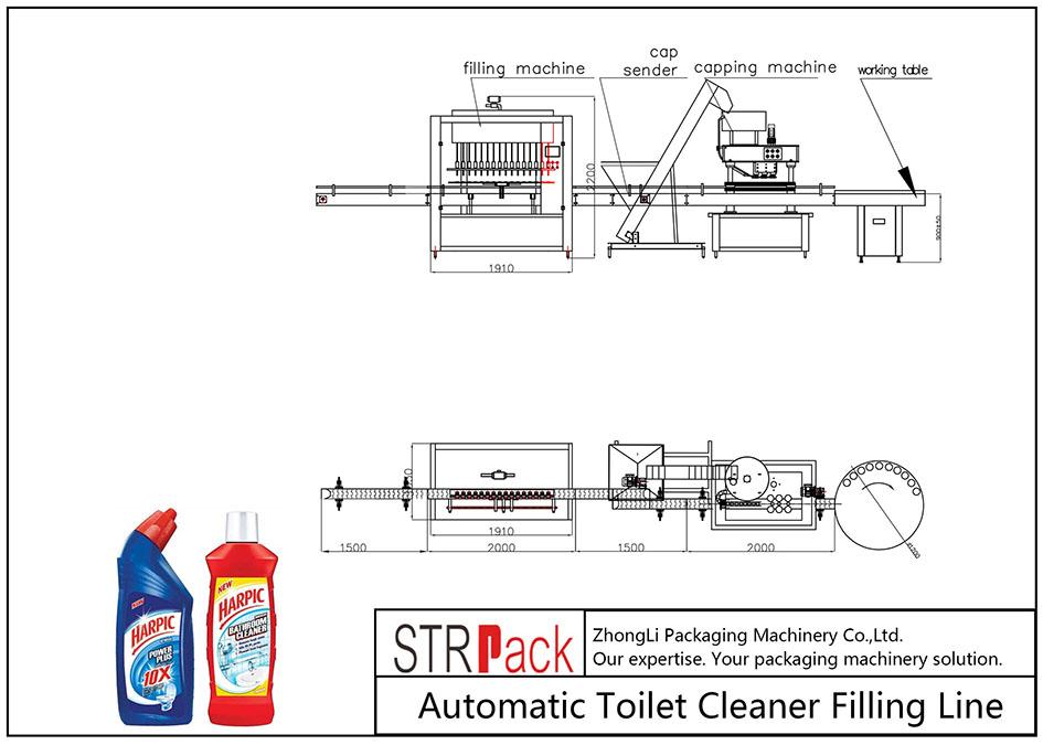 Automatska linija za punjenje čišćenja toaleta