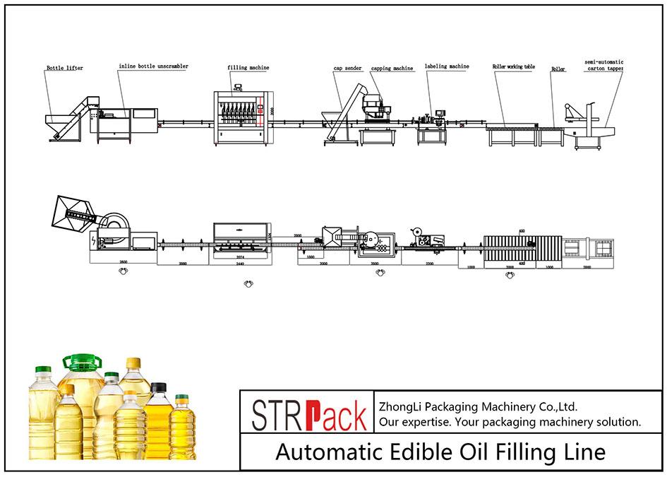 Automatska linija za punjenje jestivim uljem