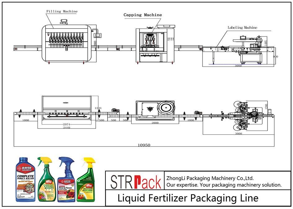 Automatska linija za pakiranje tekućih gnojiva